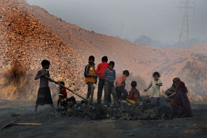 http://www.dreamstime.com/stock-photos-children-coalmine-area-image29040413