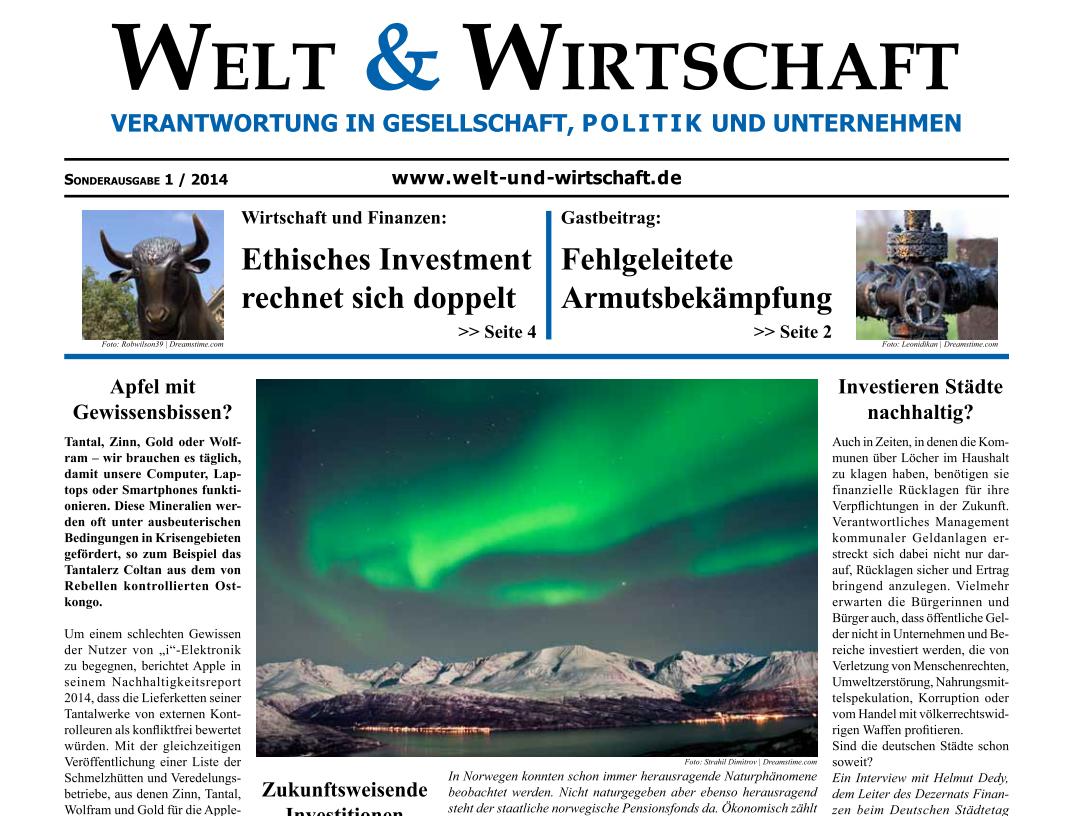 Welt & Wirtschaft - Die Titelseite