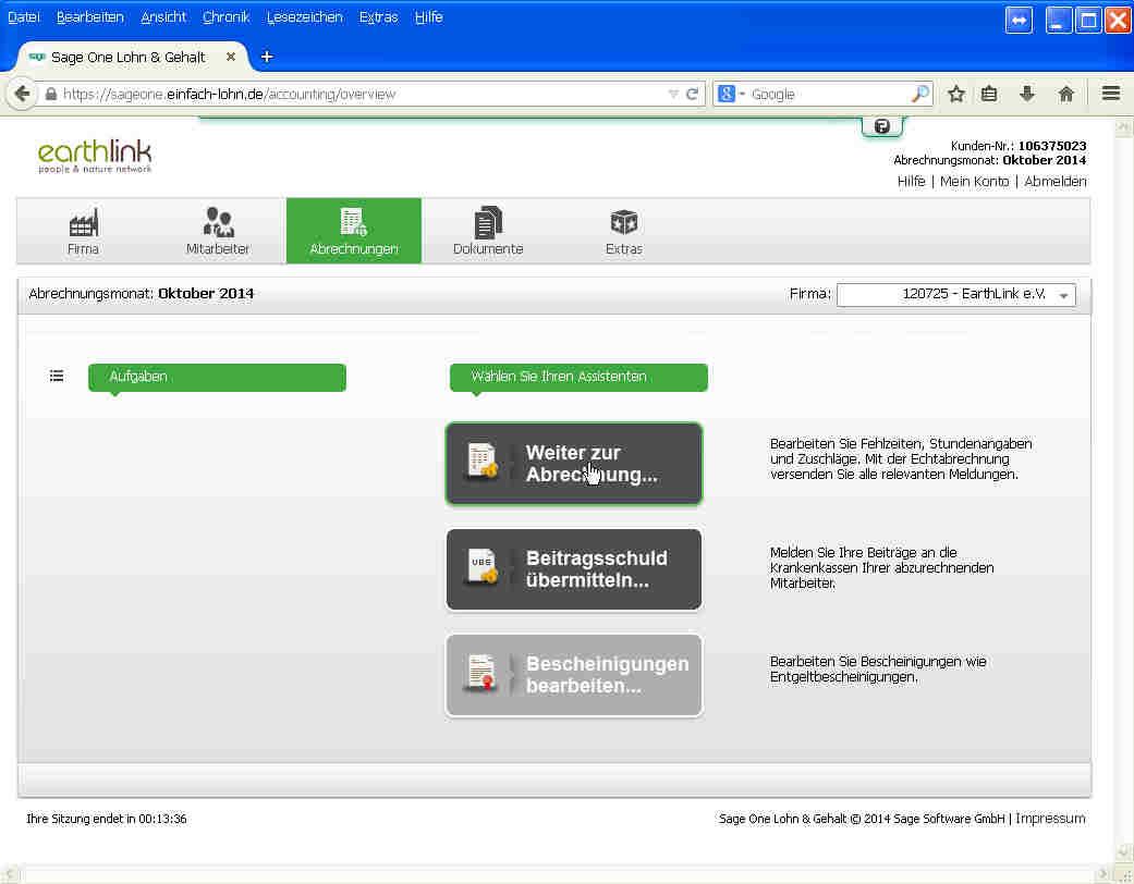 einfachlohn-Screenshot